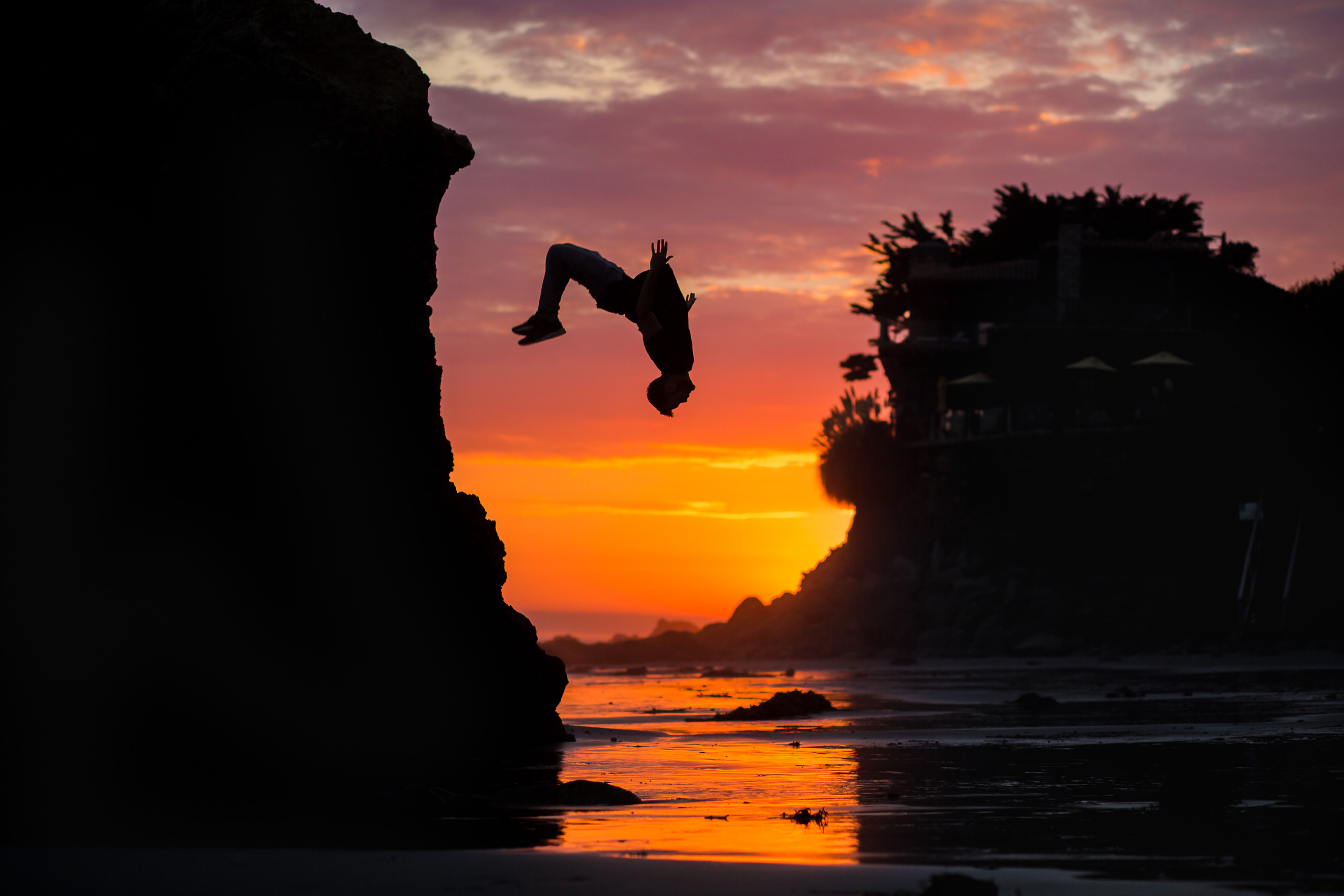 james kingston sunset beach flip