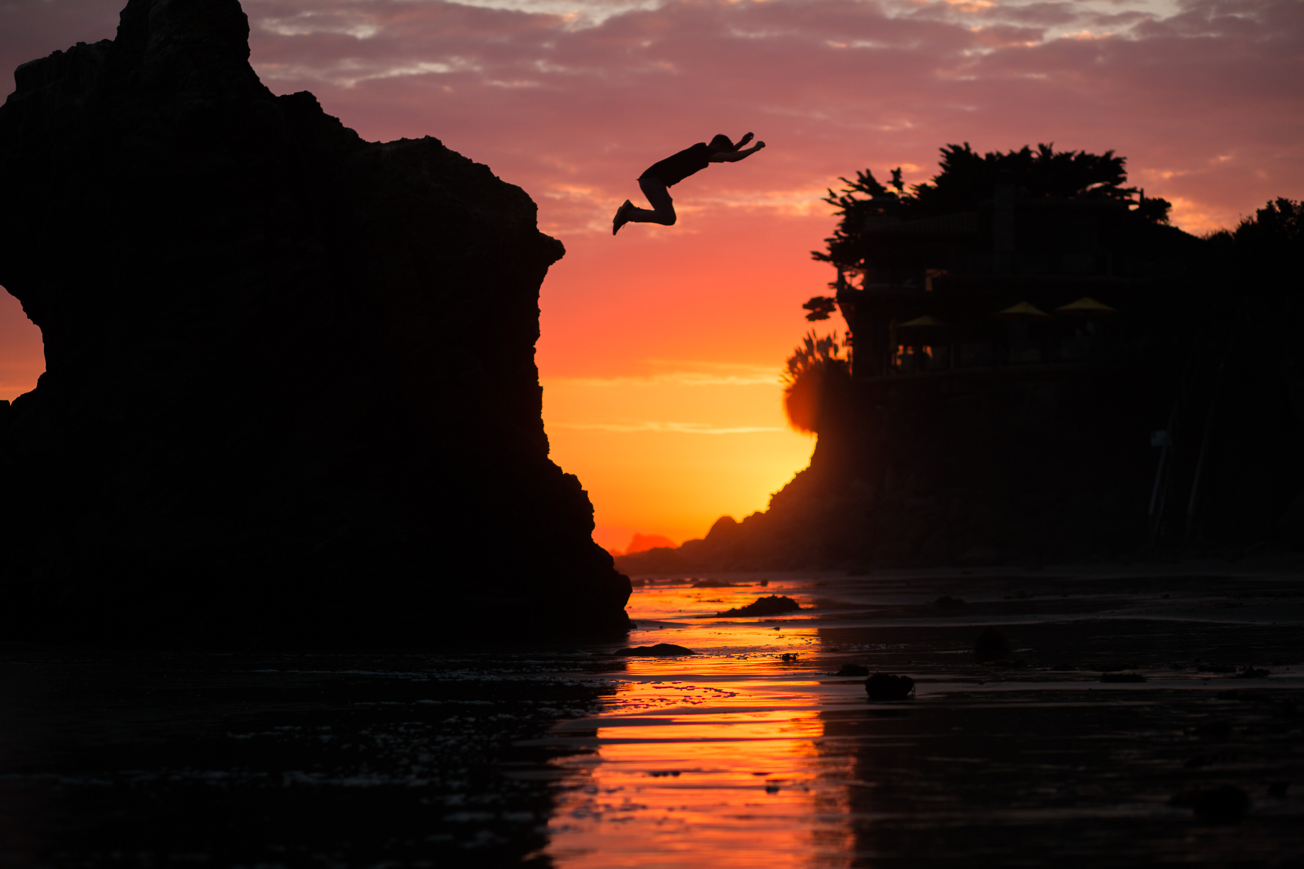 james kingston sunset beach jump